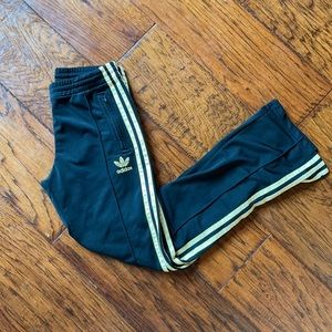ADIDAS Gold & Black Classic Jogger Pants Retro